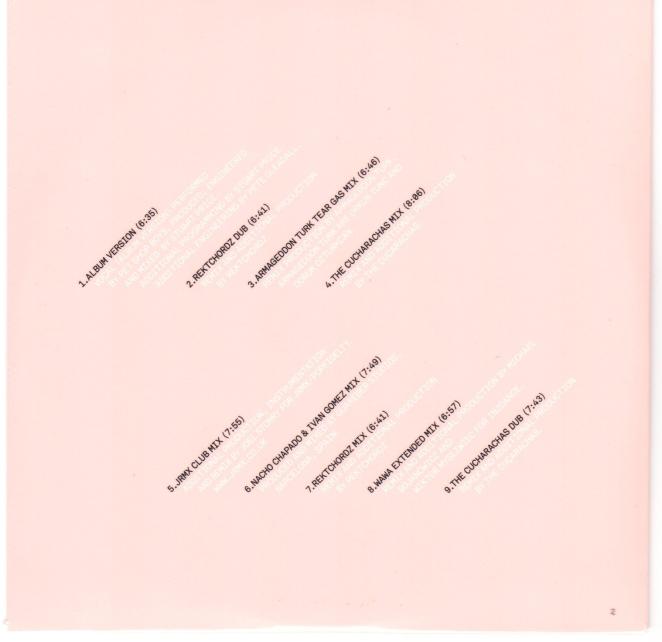Vocal Remixes CD, Wallet Side B