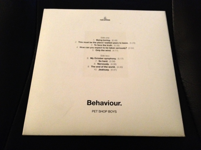 Behaviour Promo CD Sleeve Reverse