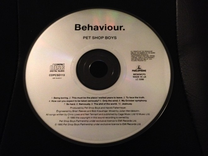 Behaviour Promo CD Disc