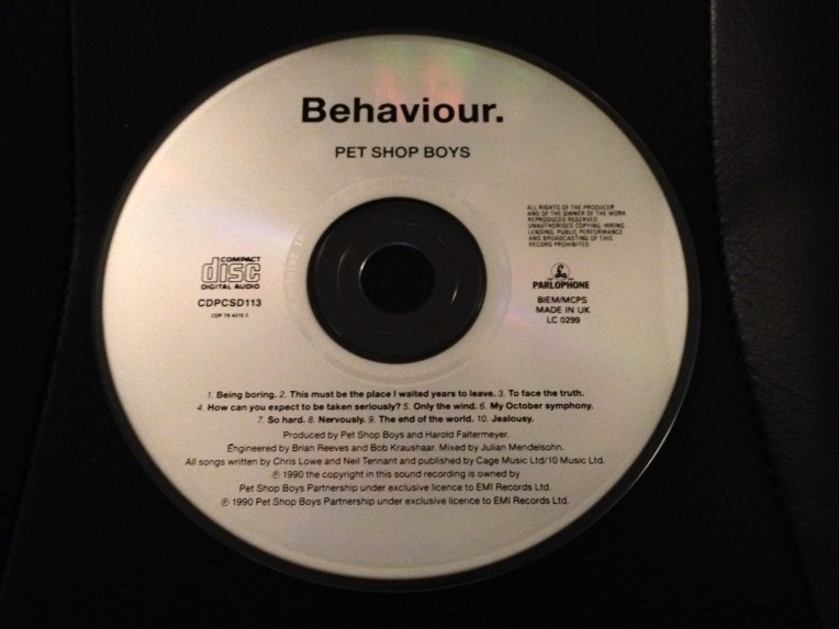 Behaviour Promo CD Disc