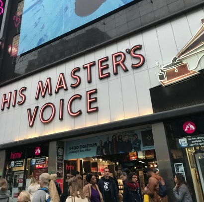 Outside HMV, Oxford Street, London